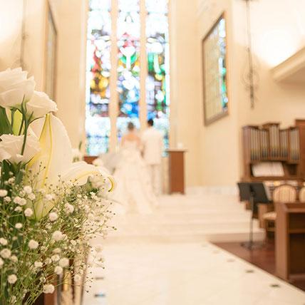 結婚式場の内観