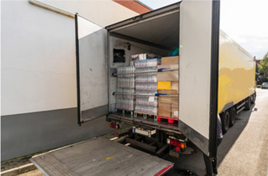 食品輸送トラック